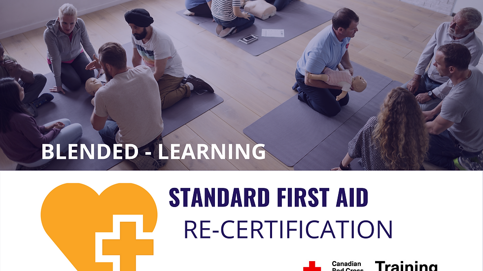 Standard First Aid Re-certification Course Dates & Registration