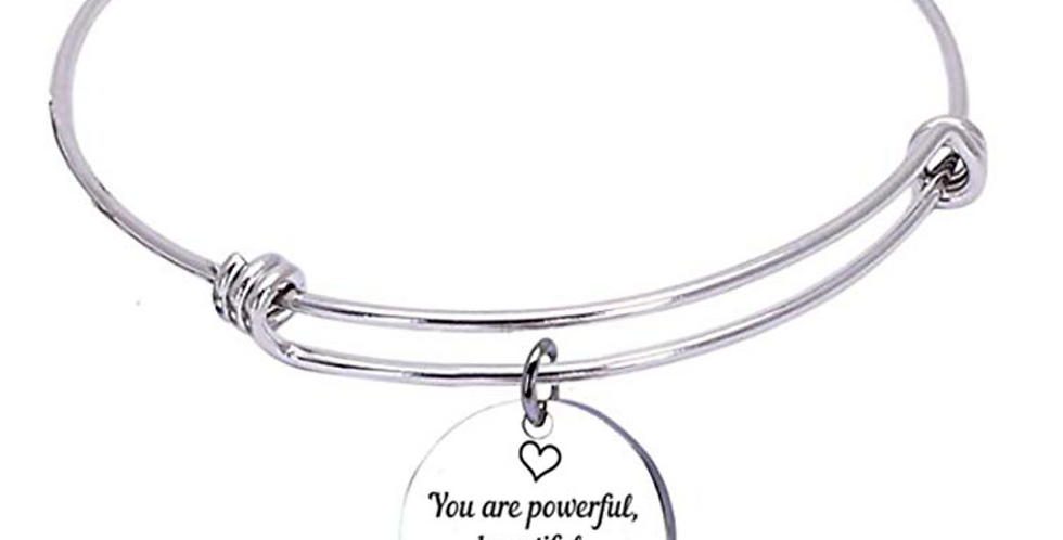 You are powerful, beautiful, brilliant and brave - Bracelet