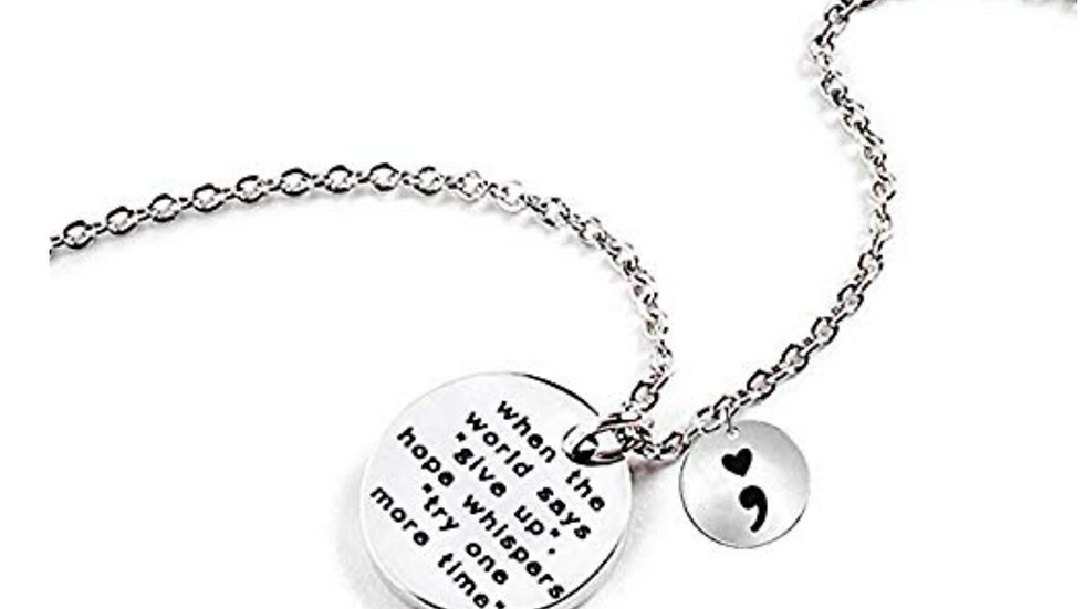 """When the world says """"give up"""" - Necklace"""