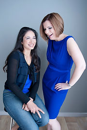Branding Headshots corporate portraits of Emma and Priya laughing and looking professional and stylish.