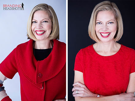 Branding Headshots corporate portrait of a businesswoman smiling and looking very confident.