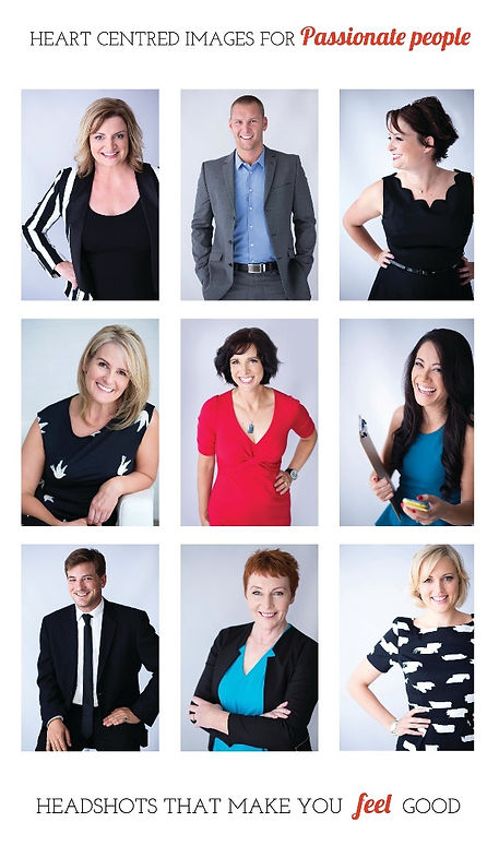 A collection of corporate portraits of women & men by Branding Headshots Melbourne. Heart-centred images for passionate people! Headshots that make you feel good!