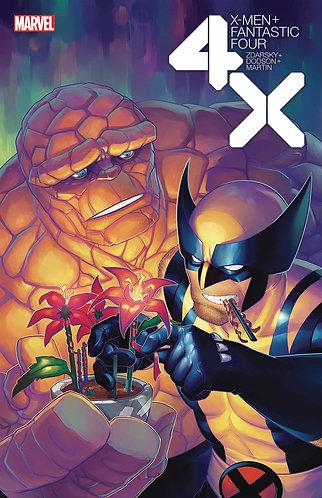 X-MEN FANTASTIC FOUR #3 (OF 4) HETRICK FLOWER VAR