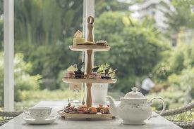 Afternoon tea set, tea set with dessert.