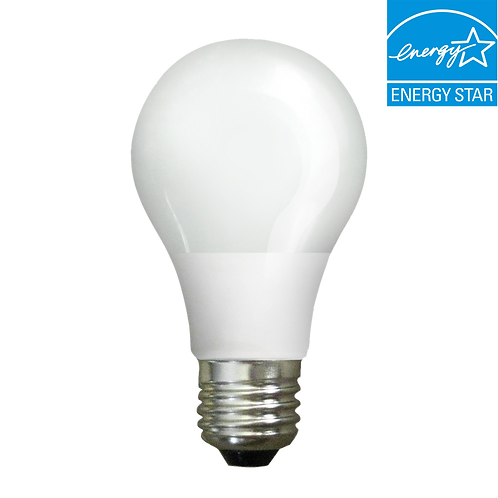 Energy Saving TEN PACK- Dimmable A19 LED bulb, 60W replacement