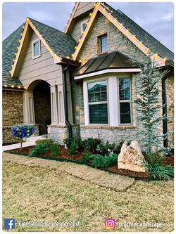 Flowerbed Design and Install along with Holiday Lights