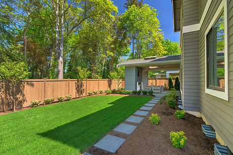 Fantastic new backyard with fresh landsc