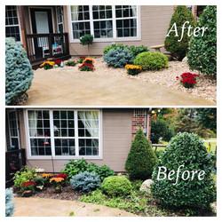 Backyard Flowerbed Installation