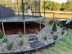 Landscape Design & Install around trampoline