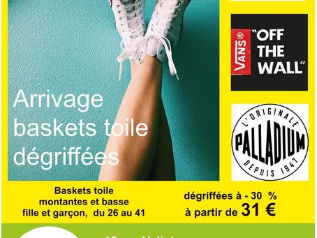Baskets toile et sneakers enfant