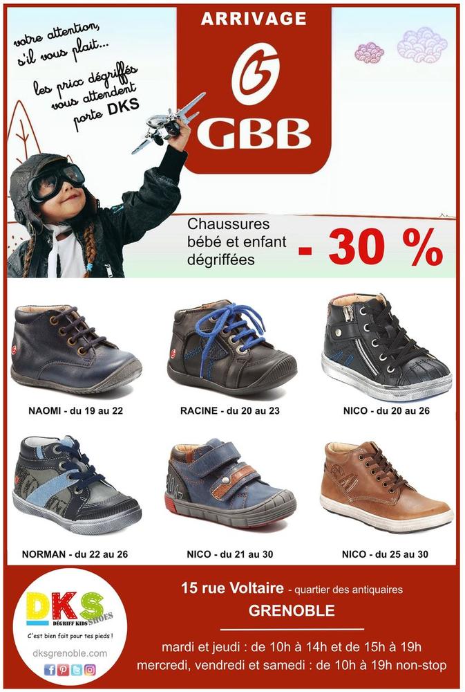 3335357784e7c GBB chaussures bébé enfant dégriffées Grenoble