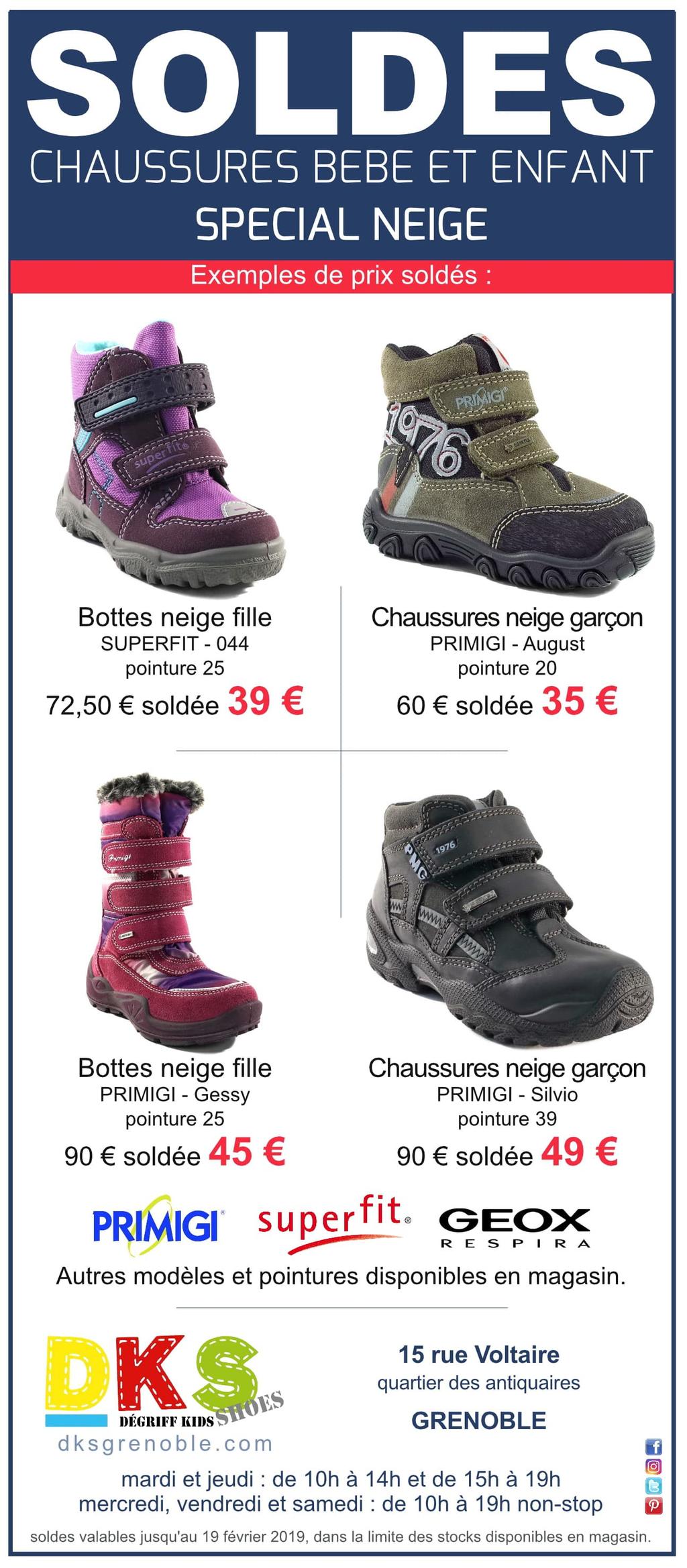 7ce1fb2158ada Arrivages chaussures bébé enfants à prix dégriffés - Grenoble