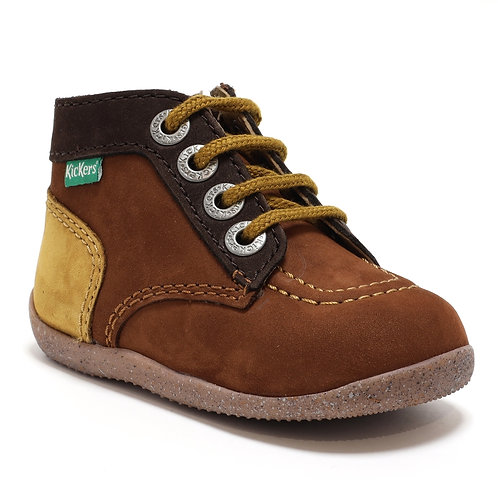Kickers Bonzip 2 marron