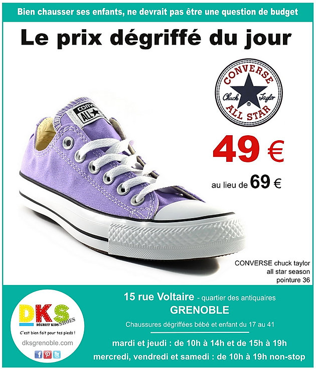 937e5022eac DKS Degriff Kids Shoes  grenoble spécialiste  converse  chaussuresbébé   chaussuresenfant  chaussuresfille  chaussuresgarçon de marque moins chères.