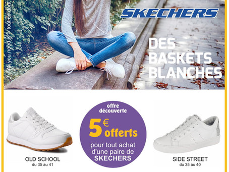 Baskets blanches Skechers