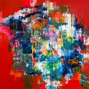 """30""""x30"""" acrylic on canvas"""
