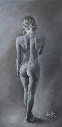 standing backfacing nude