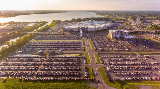 Labor Day Packed Parking Lots (Aiden Media)