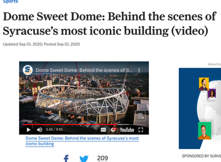 Dome Sweet Dome Drone Video (Carrier Dome, Syracuse University)