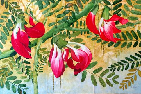 Scarlet Beauty Triptych