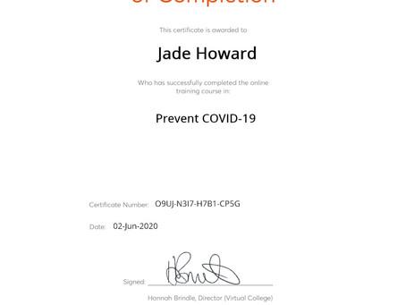 Prevent COVID-19 Course - Complete!