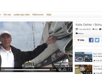 Karl Dehler seglar i Sverige. Se intervjun på Sittbrunnen.se