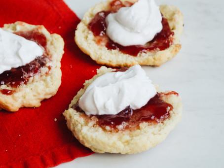 Scones + Jam + Coconut Cream
