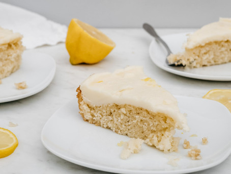 Vanilla Cake with Lemon Frosting + COVID-19