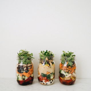Salad In A Jar: Hello Berry + Hearty Couscous + Merry Mediterra