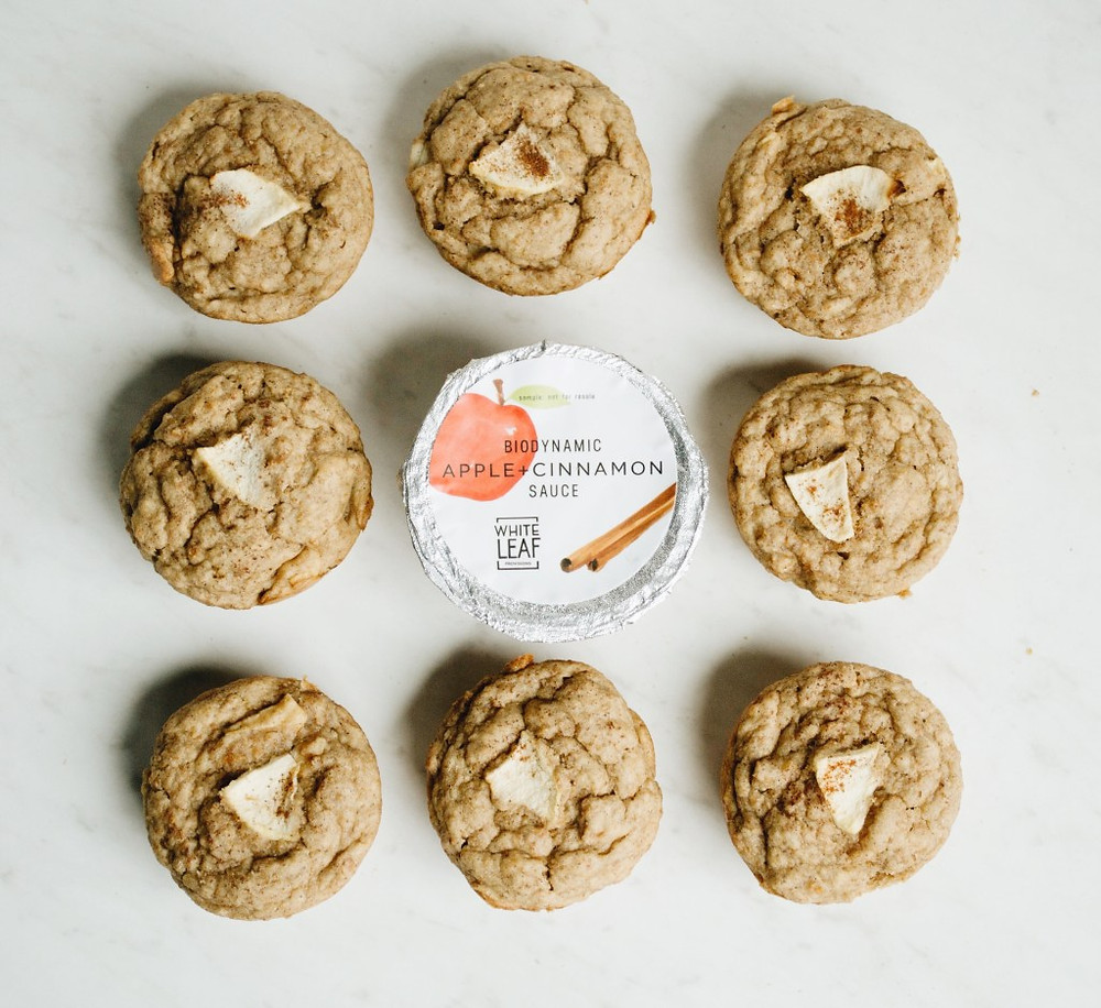 Vegan Apple Bran Muffins. Healthy vegan muffins for toddler breakfast.