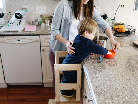 Ikea Hack: Toddler Kitchen Helper Stool