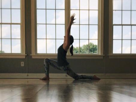 Teaching my first yoga class