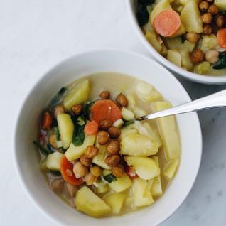Easy Dinner Recipes: Vegan Potato Leek Soup