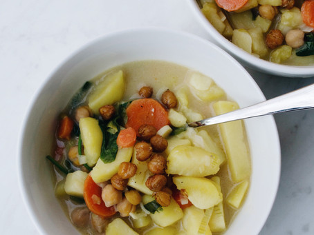 Easy Dinner Recipes: Vegan Potato Leek Soup