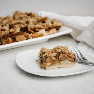 Vegan Apple Kuchen Squares