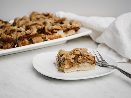 Vegan Apple Kuchen Squares
