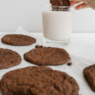 Chewy Chocolate Cookies + Tips For Baking With Toddlers