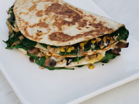 Easy dinner recipes: Vegan Vegetable Quesadillas