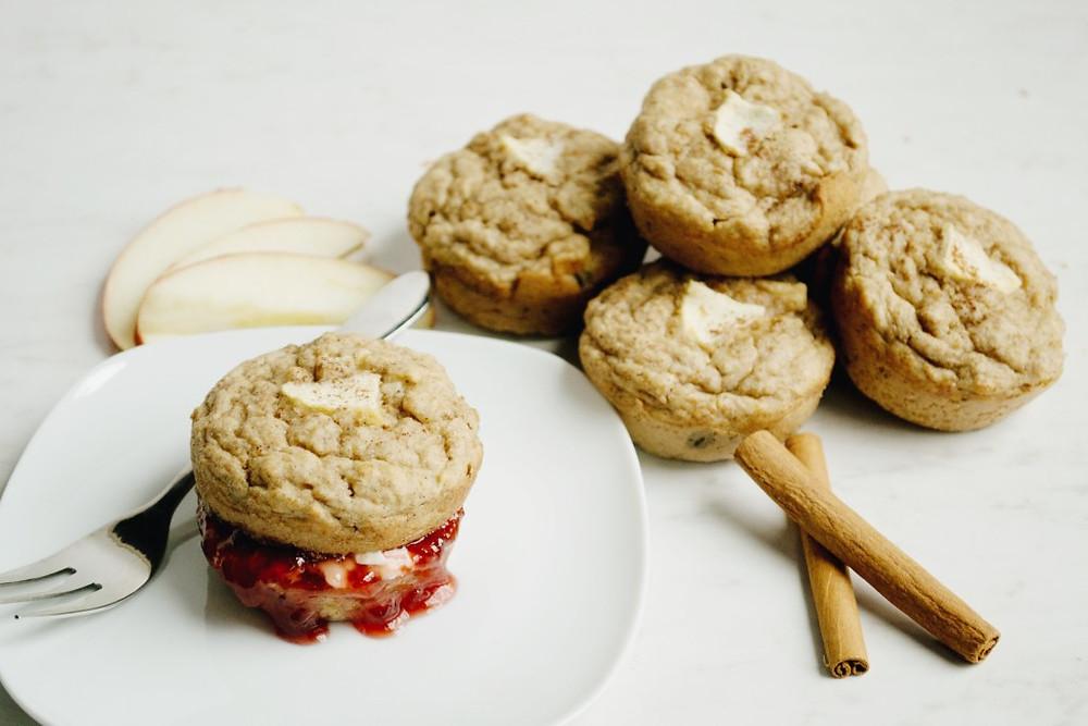 Vegan Apple Bran Muffins. Healthy Bran Muffins