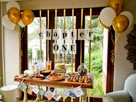 Book Themed First Birthday Party