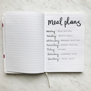 Meal plans: July 9 – 13