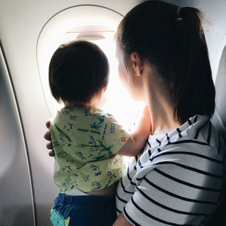 Traveling as a vegan + flying with a baby