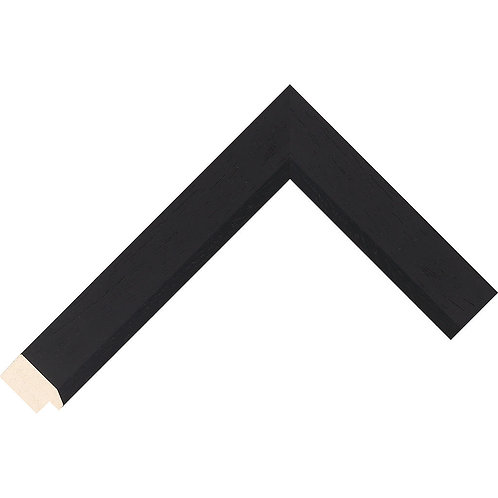 Black Flat Ayous Picture Frame Moulding