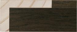 L Shape Dark Walnut Veneer 23 & 39mm Rebate