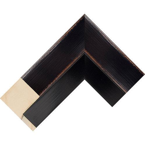 LJS Komodo II Moulding Black L Shape Canvas