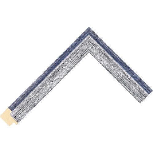 LJS La Moda 1 Moulding Silver/Blue