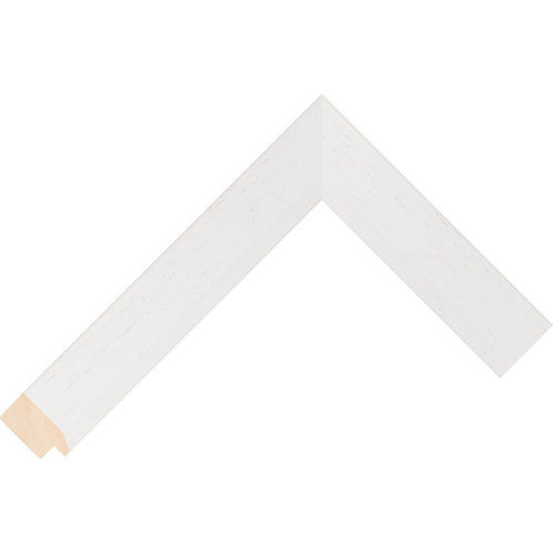 White Flat Ayous Picture Frame Moulding
