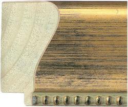 "2 1/2"" Antique Gold Scoop Beaded Edge"