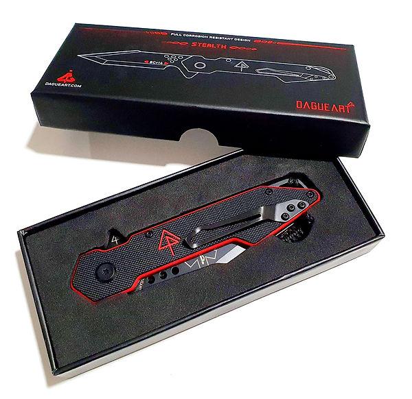 Couteau personnalisé laser dans sa boîte