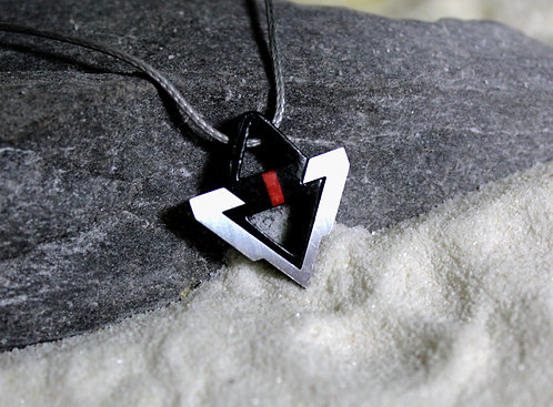 Collier triangle pour homme